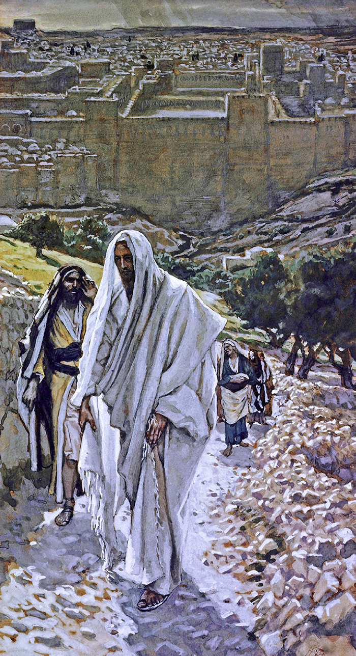 Jesus Goes Out To Bethany In The Evening by James Tissot