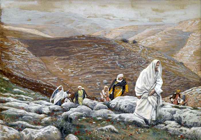 Jesus Goes Up to Jerusalem by James Tissot