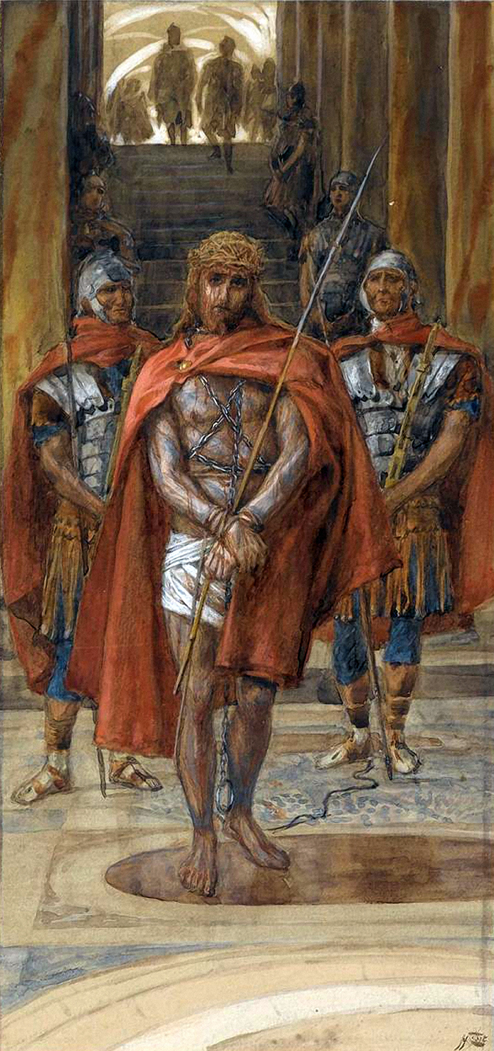Jesus Leaves The Praetorium by James Tissot