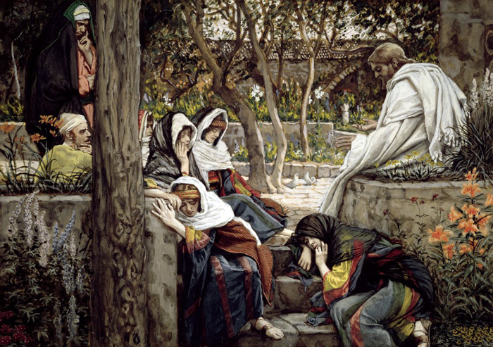 Jesus Mary Magdalene and Martha at Bethany by James Tissot