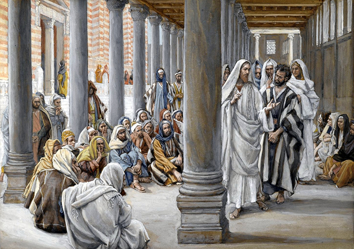 Jesus Walks in the Portico of Solomon by James Tissot