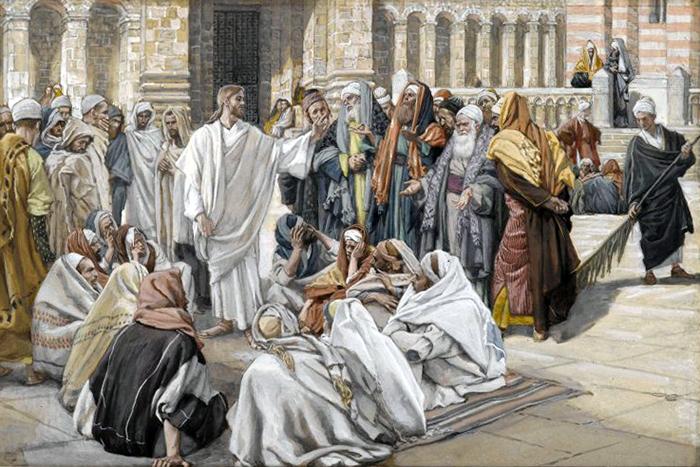 Pharisees Question Jesus by James Tissot