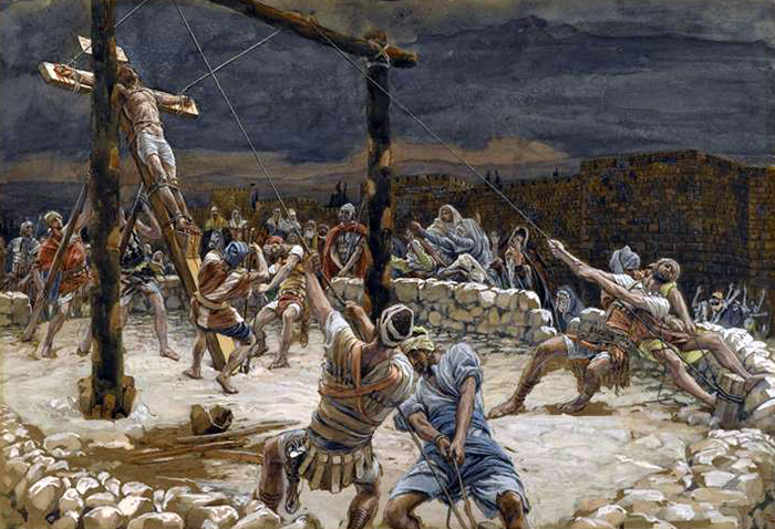 Raising Of The Cross by James Tissot
