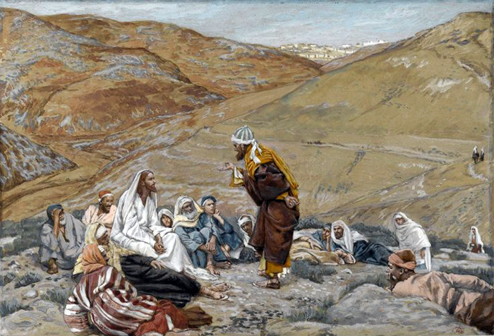 The Lawyer Standing Up And Tempting Jesus by James Tissot