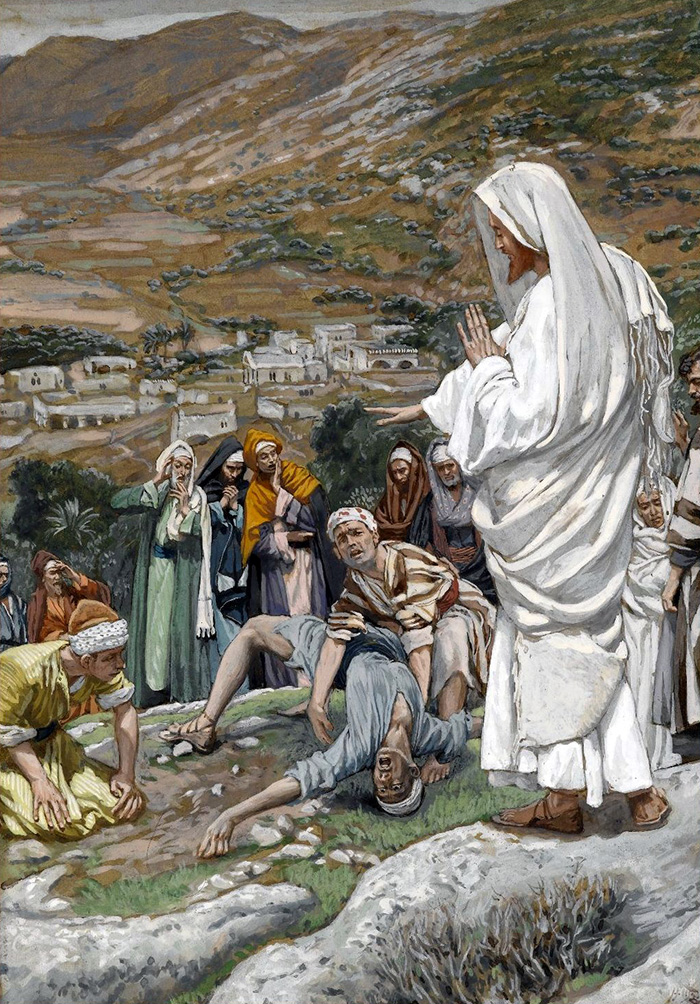 The Possessed Boy at the Foot of Mount Tabor by James Tissot