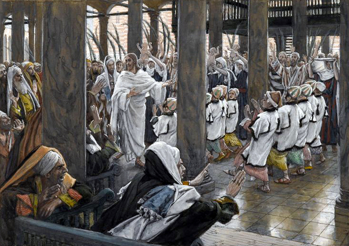 The Procession in the Temple by James Tissot