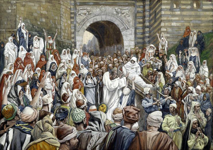 The Resurrection of the Widows Son at Nain by James Tissot