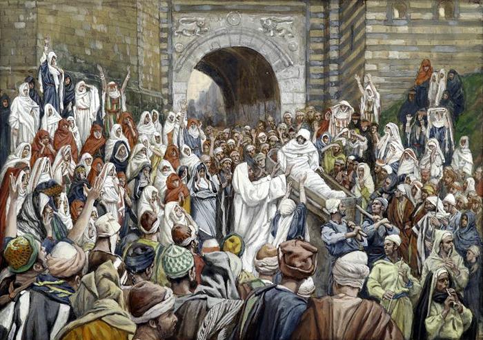 The Resurrection of the Widows Son at Nain by James Tissot