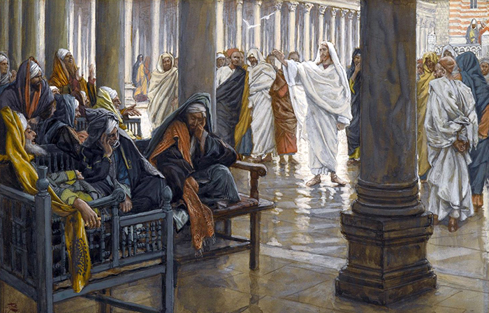 Woe Unto You Scribes and Pharisees by James Tissot