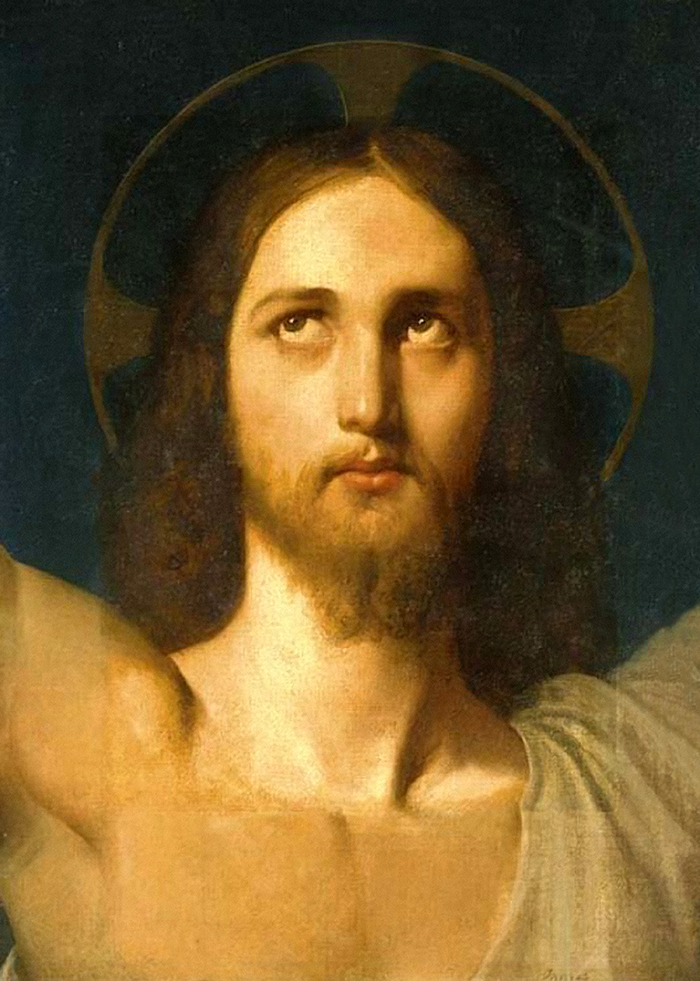 The Head of Christ by Jean Auguste Dominique Ingres