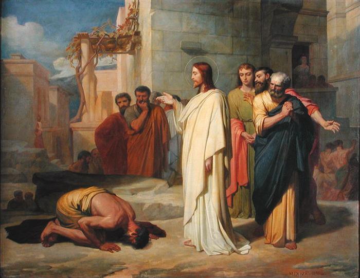Jesus Healing the Leper by Jean-Marie Melchior Doze