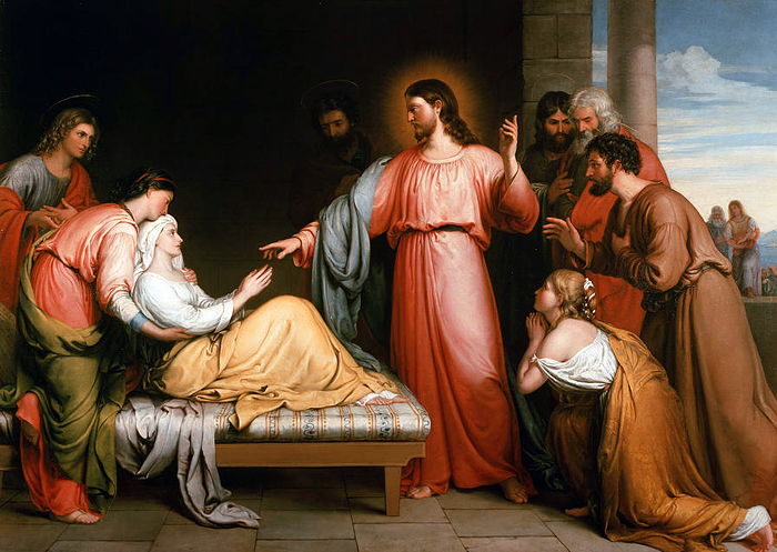 Christ Healing The Mother Of Simon Peter by John Bridges
