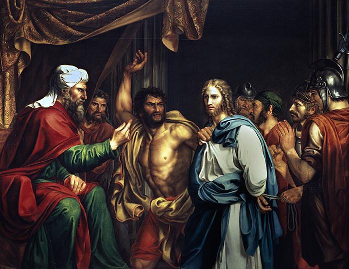 Jesus en casa de Anas by Jose de Madrazo y Agudo