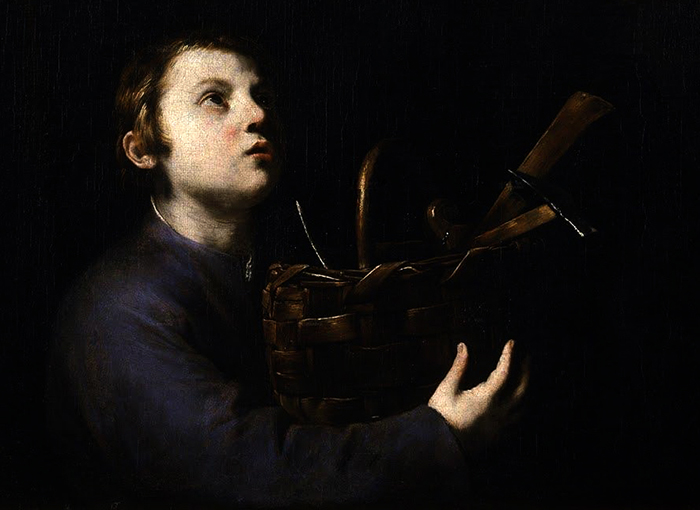 The Christ Child detail by Jusepe de Ribera