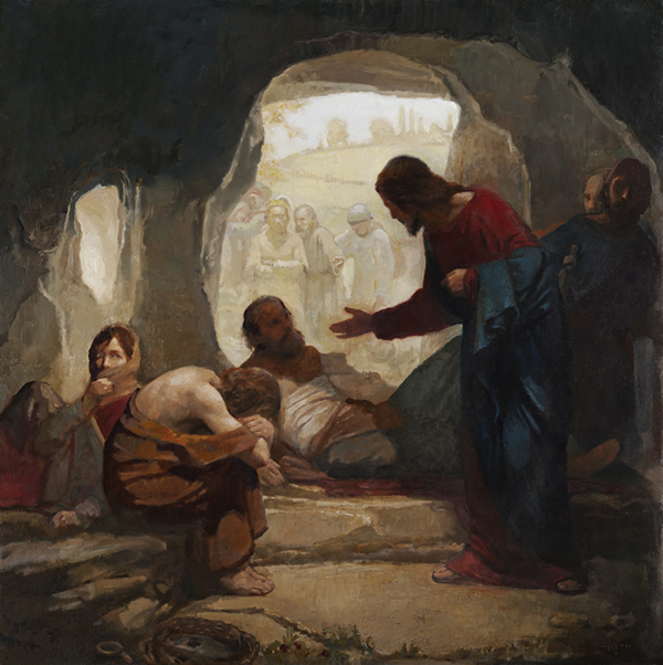Christ among the lepers by J. Kirk Richards
