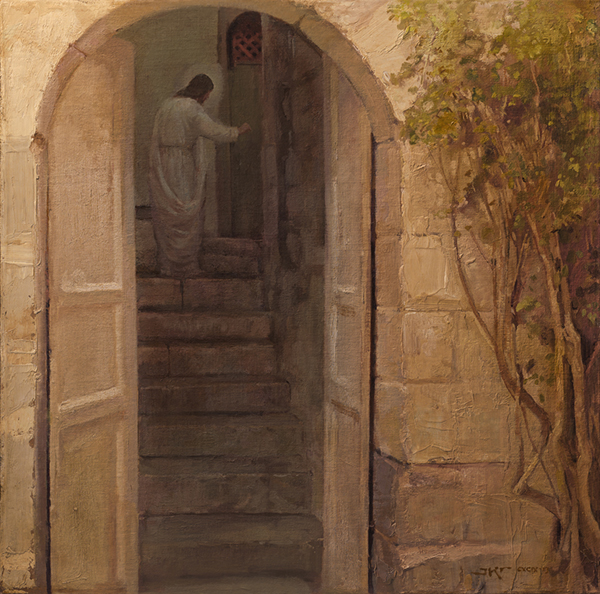 I Stand at the door and knock by J. Kirk Richards