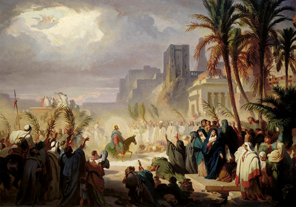 The entry of Christ into Jerusalem by Félix Louis Leullier