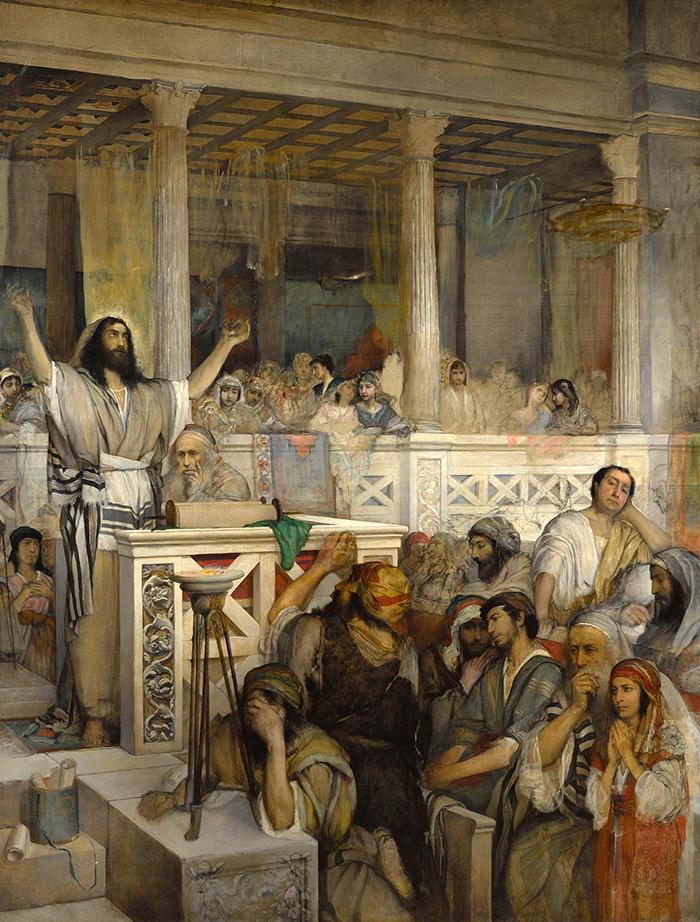 Christ Preaching at Capernaum by Maurycy Gottlieb