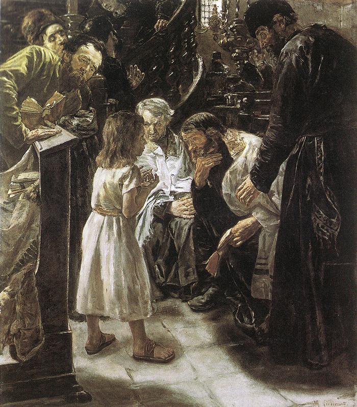 Der zwölfjährige Jesus im Tempel by Max Liebermann