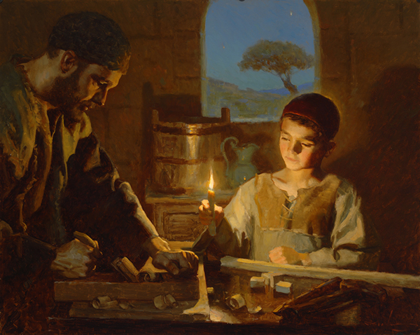 In Joseph's woodshop by Michael Malm