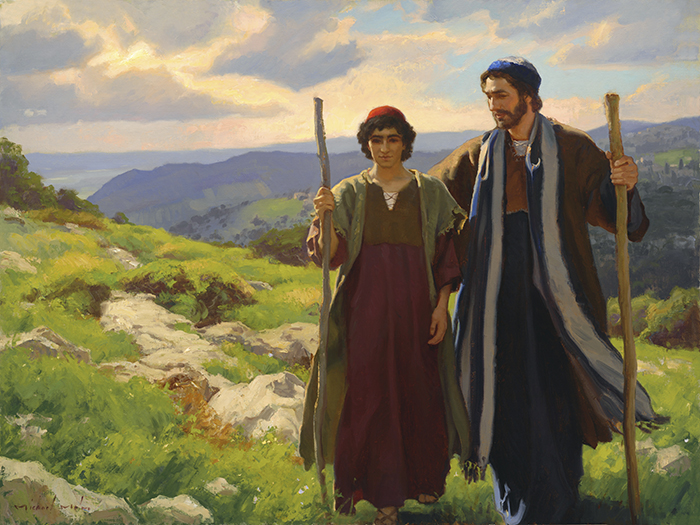 Young Jesus with Joseph by Michael Malm