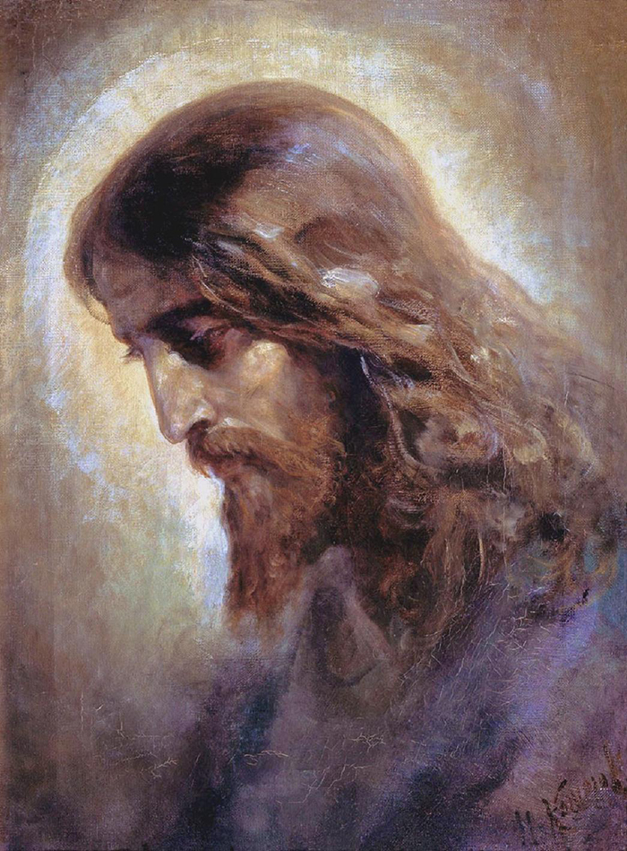 Head of Christ by Nikolaj Andreevich Koshelev