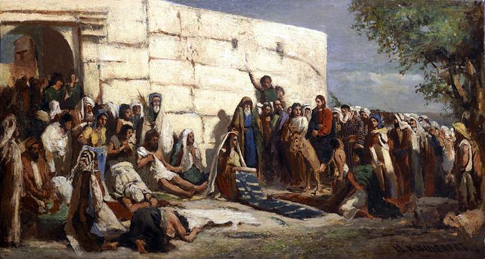 Christ entering Jerusalem by Nikolay Andreyevich Koshelev