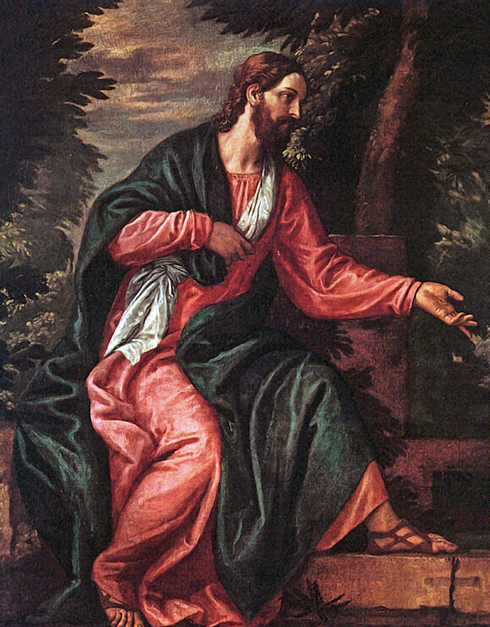 Jesus (detail) by Paolo Veronese