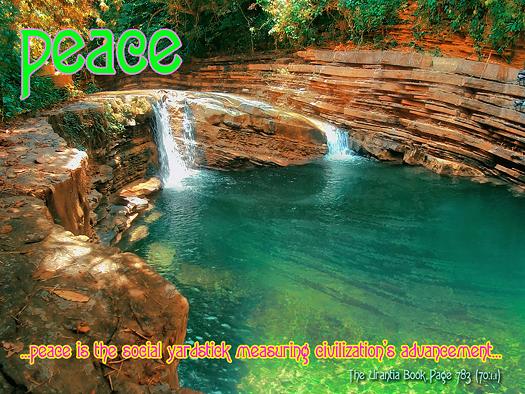 peace, waterfall
