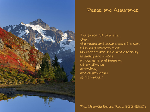 Peace and Assurance
