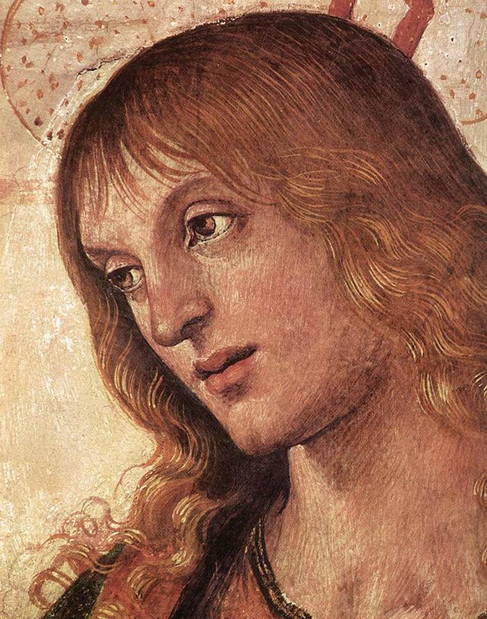 Christ (detail) by Pietro Perugino