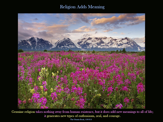 Religion Adds Meaning