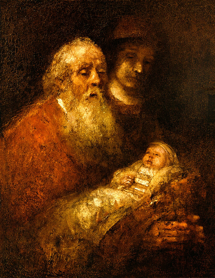 Simeon's Song to Jesus by Rembrandt