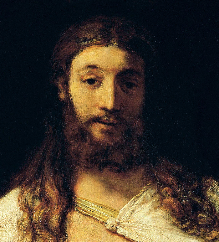 Christ (detail) Rembrandt
