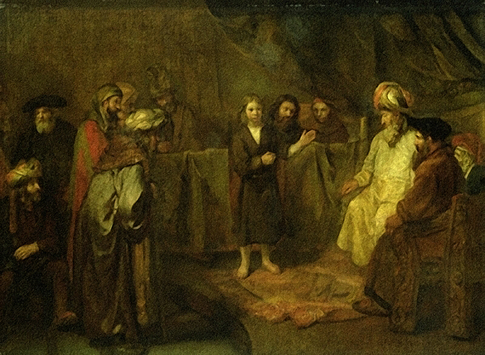 The Twelve Year Old Jesus in front of the Scribes by Rembrandt