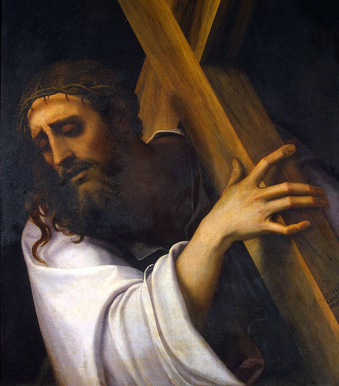 Christ Carrying the Cross (detail) by Sebastiano del Piombo