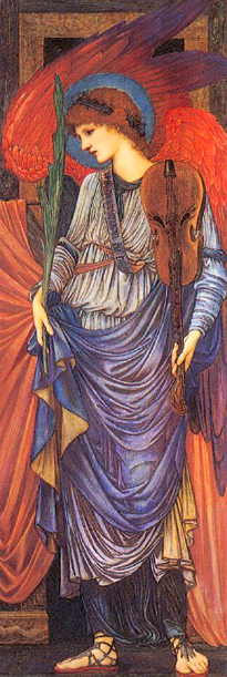 A Musical Angel by Sir Edward Coley Burne Jones