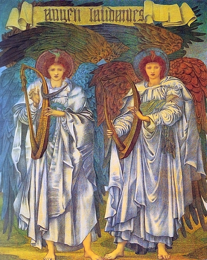 Angeli Laudantes by Sir Edward Coley Burne Jones