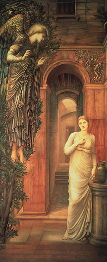 The Annunciation by Sir Edward Coley Burne Jones
