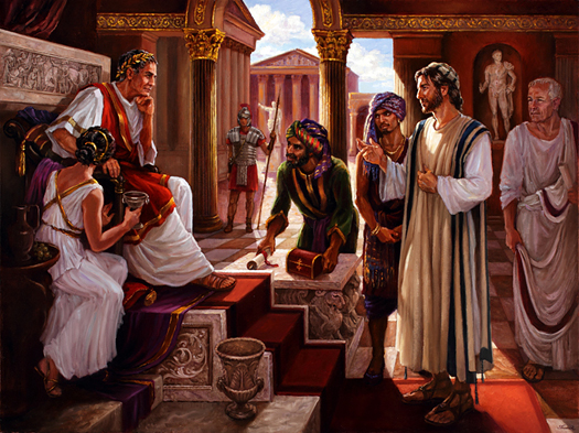 Jesus Meets Tiberius by Slawa Radziszewska