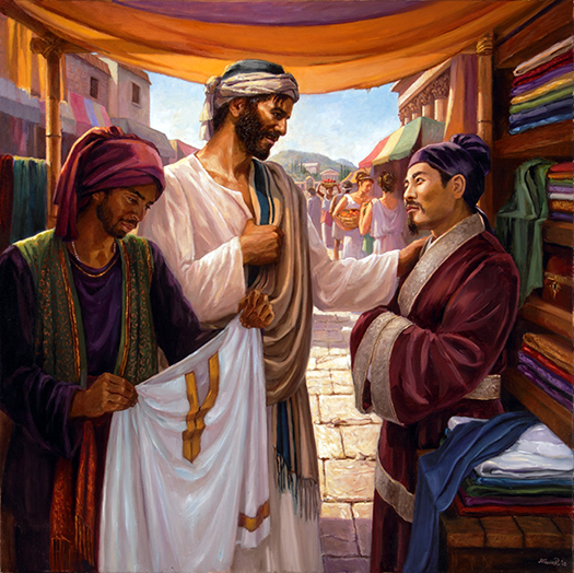 Jesus and the Chinese Merchant by Slawa Radziszewska