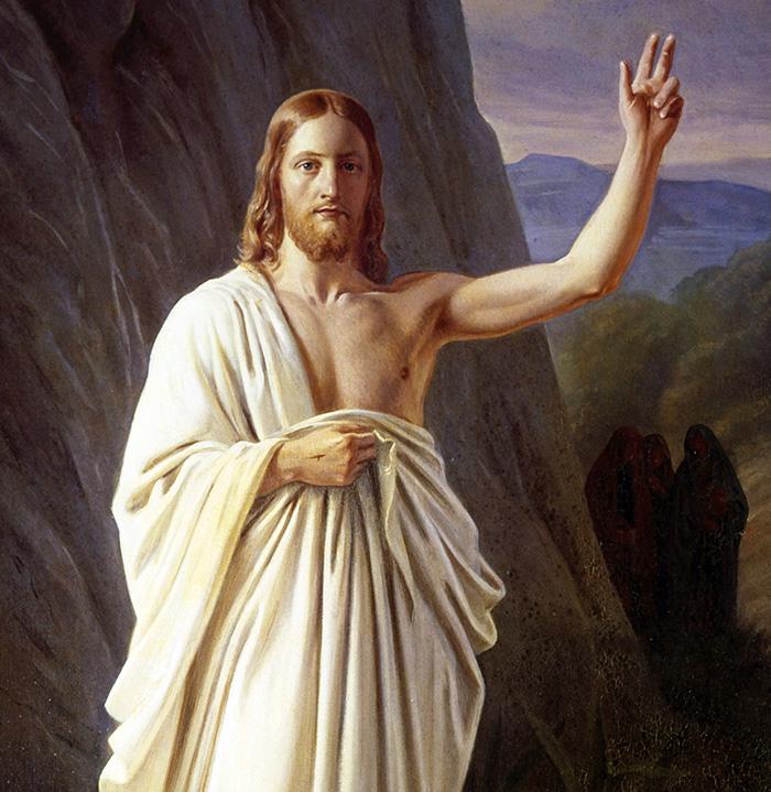The Resurrection (detail) by Carl Hansen