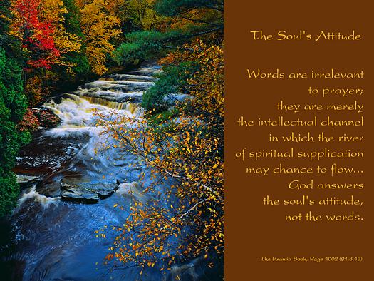 The Soul's Attitude