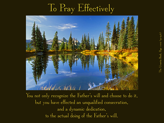 To Pray Effectively