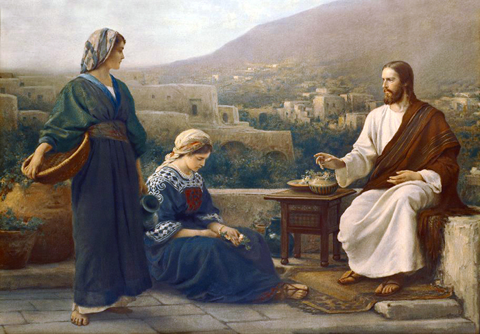 Mary, Martha and Jesus
