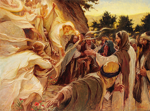 resurrection-of-lazarus-by-walter-rane