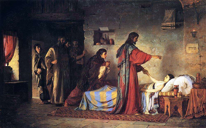 Raising of Jairus Daughter by Wassilij Dimitriewitsch Polenow