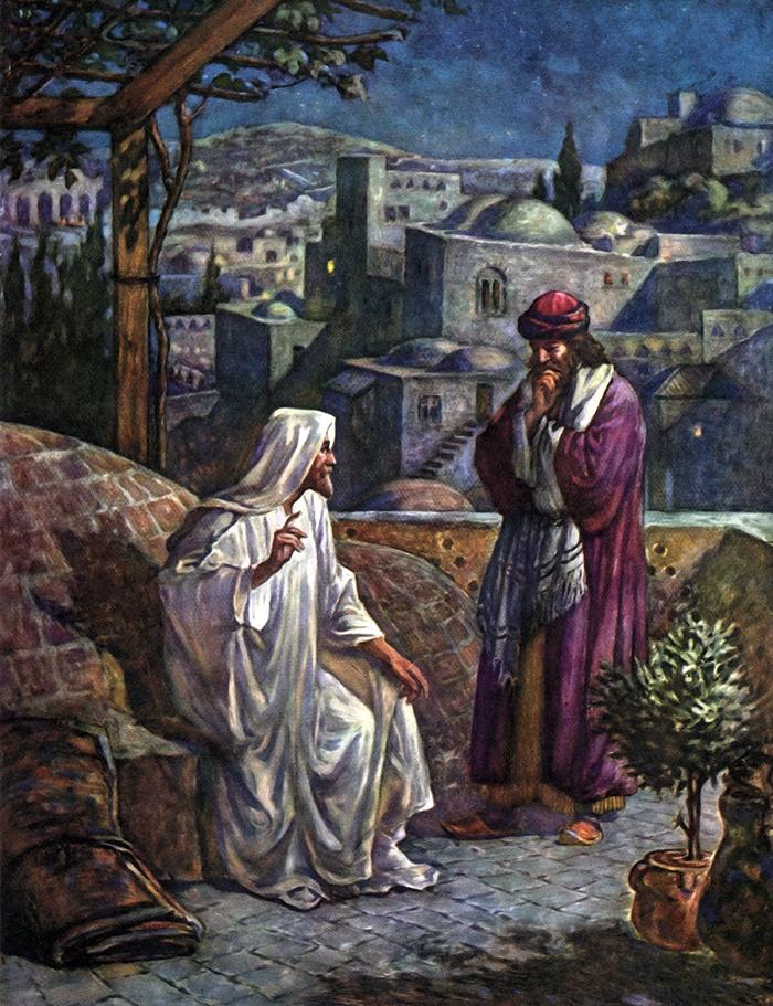 Jesus Counsels Nicodemus by William Hole