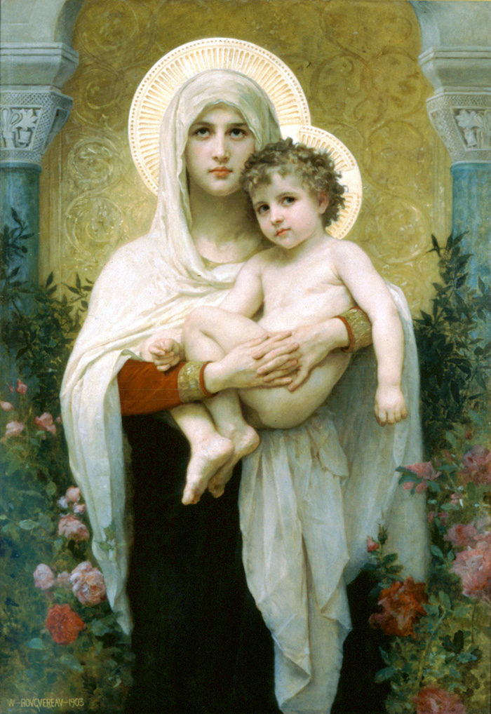 Madonna of the Roses by William Adolphe Bouguereau