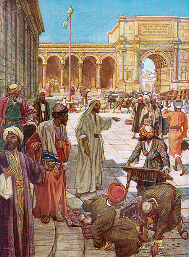 Jesus Casts Out The Money Changers by William Hole